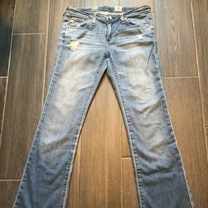 AG Distressed Angel Jeans